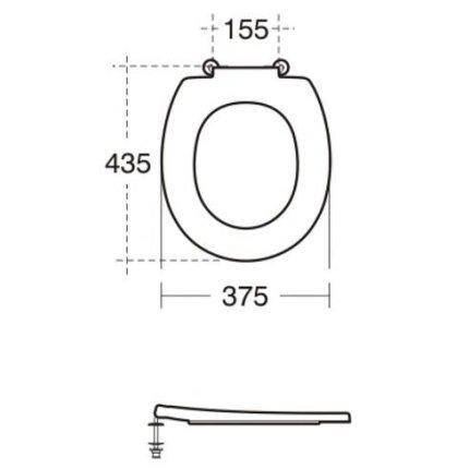 Colac wc cu fixare superioara Ideal Standard Contour 21 alb