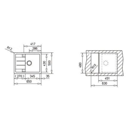 Set Teka Sandbeige: Chiuveta Tegranit Astral 45B TG 1B 1D, 650x500mm + Baterie bucatarie SP 995 granit