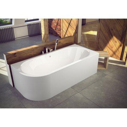 Cada baie asimetrica Besco Avita 150x75cm, acril, orientare dreapta