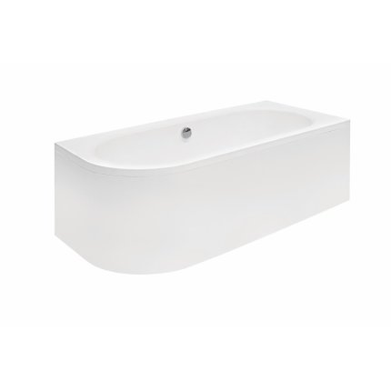 Cada baie asimetrica Besco Avita 160x75cm, acril, orientare dreapta