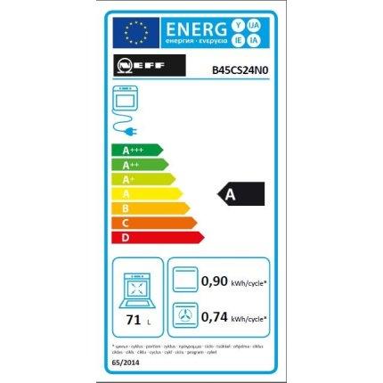 Cuptor electric incorporabil Neff Line B45CS24N0 multifunctional, 13 functii, 71 litri, EcoClean & EasyClean, usa Slide&Hide