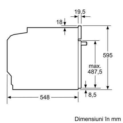 Cuptor electric incorporabil Neff Line B6CCH7AN0 multifunctional, 8 functii, 71 litri, piroliza & EasyClean, usa Slide&Hide