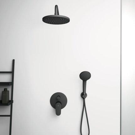 Para de dus Ideal Standard IdealRain 1 functie, 100mm, negru mat