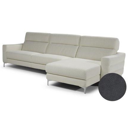 Canapea de colt Softaly by Natuzzi Stima B940 orientare dreapta, tapiterie Mattinata gri 01