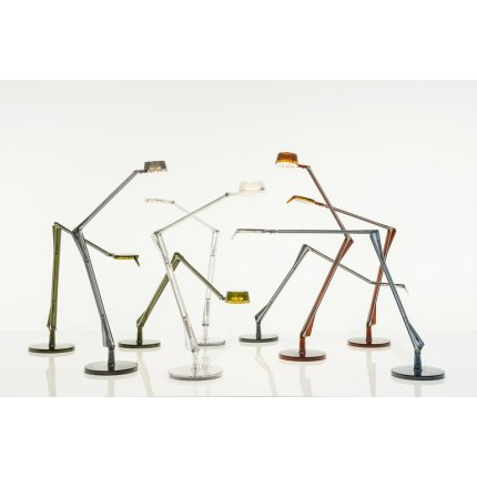 Veioza Kartell Aledin Tec design Alberto & Francesco Meda, fumuriu transparent