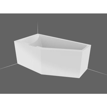 Cada baie asimetrica Riho Geta 160x90cm, acril, orientare dreapta