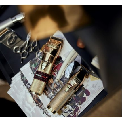 Aparat de tuns BaByliss PRO FX8700GE ChromFX, lama otel japonez 45mm, acumulator LiIon, gold
