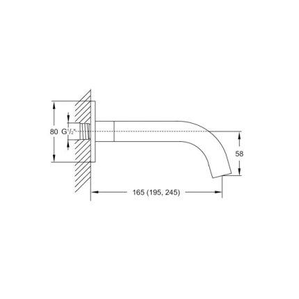 Pipa cada Steinberg Clarity seria 100 montaj incastrat, 19.5cm