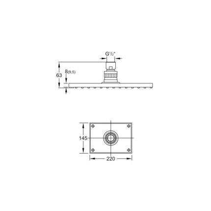 Palarie dus Steinberg Sensuality seria 120 145x220x9.5 mm