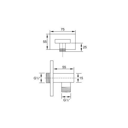Conector Fixfit Steinberg Purism seria 160 pentru furtun dus
