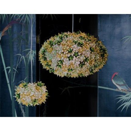 Suspensie Kartell Bloom design Ferruccio Laviani, G9 max 6x33W, d53cm, lavanda