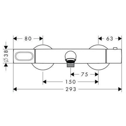 Baterie cada termostatata Hansgrohe Axor Citterio M