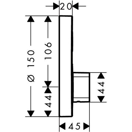 Baterie dus Hansgrohe ShowerSelect S cu 1 functie, montaj incastrat, necesita corp ingropat