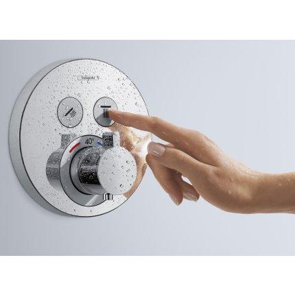 Baterie dus termostatata Hansgrohe ShowerSelect S cu 2 functii, montaj incastrat, necesita corp ingropat