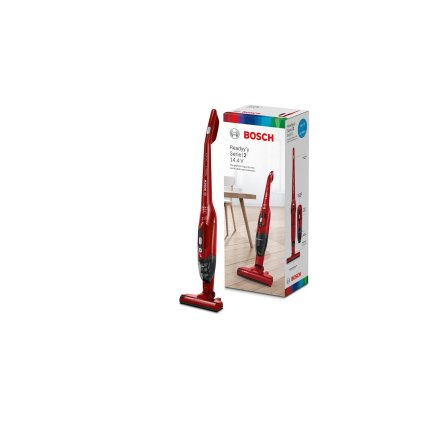 Aspirator multifunctional Bosch BBHF214R 2in1 Serie 2, acumulator LiIon 14.4V, deep red