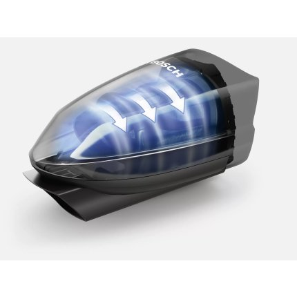 Aspirator multifunctional Bosch BBHF220 2in1 Serie 2, acumulatori LiIon 18V, 2 trepte de putere, autonomie 40 min, negru