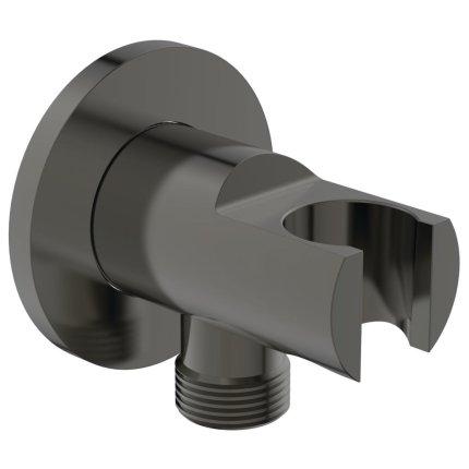 Conector FixFit Ideal Standard Ideal Rain Round cu agatatoare de dus, gri magnetic