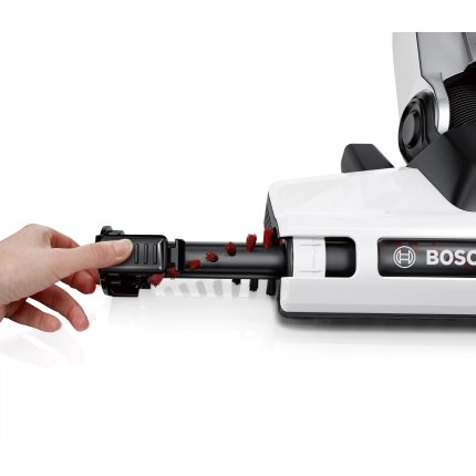 Aspirator vertical Bosch BCH6ATH25 Athlet, acumulator LiIon 25,2V, autonomie 60 min, alb