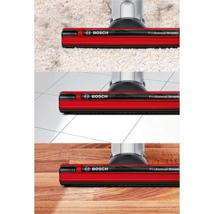 Aspirator vertical Bosch BCH6ZOOO Zoo'o, acumulator LiIon 25,2V, autonomie 60min, rosu