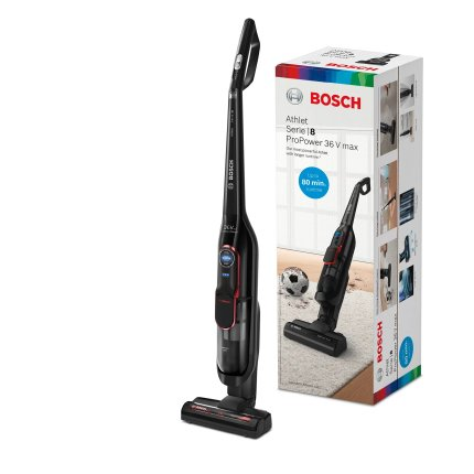 Aspirator vertical Bosch BCH87POW1 Serie 8 Athlet ProPower, acumulator LiIon 32.4V, autonomie 80 minute, negru