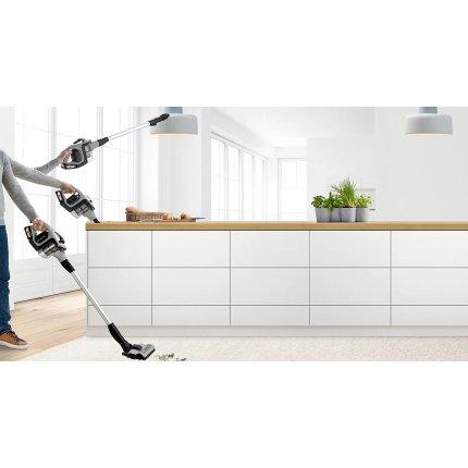 Aspirator vertical Bosch BCS812KA2 Unlimited Serie 8, 2x acumulatori Power for ALL 18V, autonomie 40 minute, argintiu