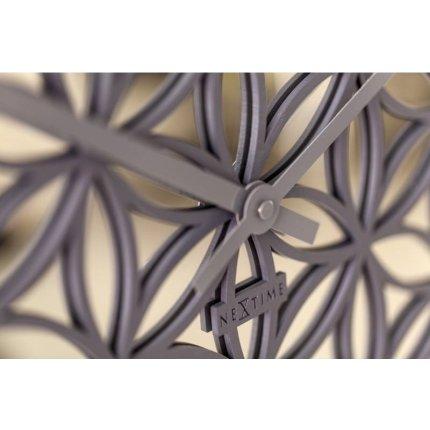 Ceas de perete NeXtime Bella Mirror 50cm, Grey