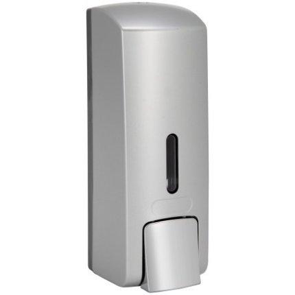 Dispenser sapun lichid Bemeta Hotel plastic crom mat 65 x 185 x 75 mm, 300 ml