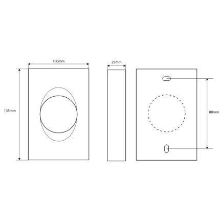 Dispenser Bemeta Hotel pentru pungi igienice 100 x 135 x 25 mm