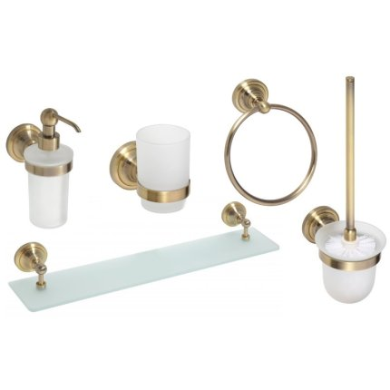 Set accesorii baie Bemeta Retro 5 piese, bronz