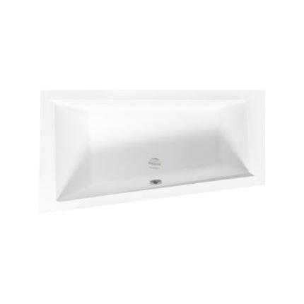 Cada baie asimetrica Besco Intima 160x90cm, acril, orientare stanga