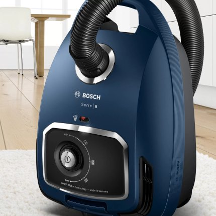 Aspirator cu sac Bosch BGB6X300 Serie 6, 600W, PowerProtect, albastru