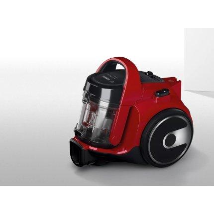 Aspirator fara sac Bosch BGC05A322 Serie 2, 700W, recipient praf 1,5 litri, chili red
