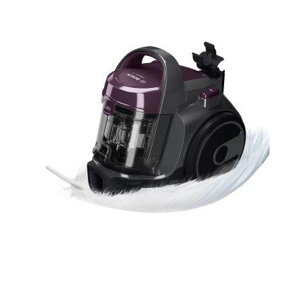 Aspirator fara sac Bosch BGC05AAA1 Serie 2, 700W, recipient praf 1,5 litri, violet / stone grey