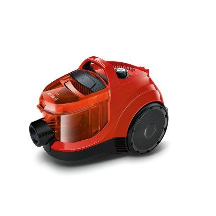 Aspirator fara sac Bosch BGC1UA110 GS-10 700W, recipient praf 1,4 litri, flaming red translucent