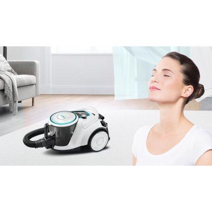 Aspirator fara sac Bosch Pro Hygienic BGS41HYG1 Serie 6, 550W, Smart Sensor Control, alb