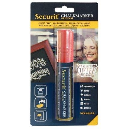 Marker creta Securit Liquid Large 7-15mm, rosu