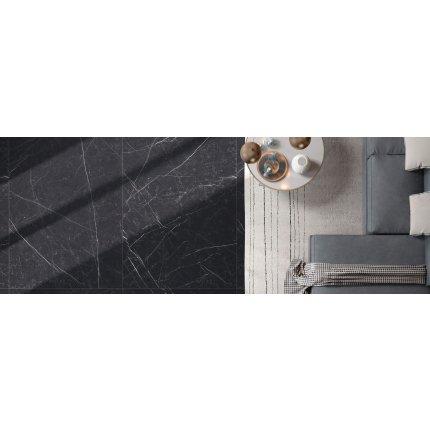 Gresie portelanata FMG Marmi Classici Maxfine 75x37.5cm, 6mm, Black Marquinia Lucidato