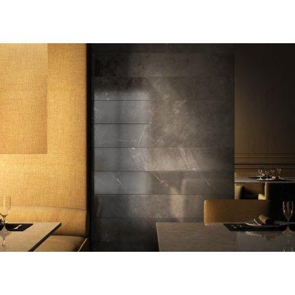 Gresie portelanata rectificata FMG Marble 30x60cm, 9mm, Alanya Black Prelevigato