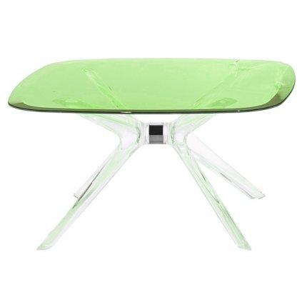 Masuta Kartell Blast design Philippe Starck, 80x80cm, h40cm, crom-verde transparent