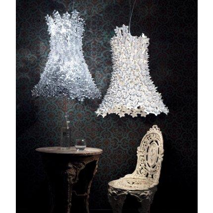 Suspensie Kartell Bloom design Ferruccio Laviani, G9 max 9x33W, d53cm, alb