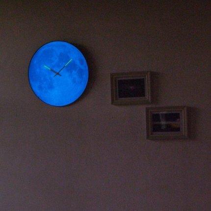 Ceas de perete NeXtime Blue Moon Dome 35cm