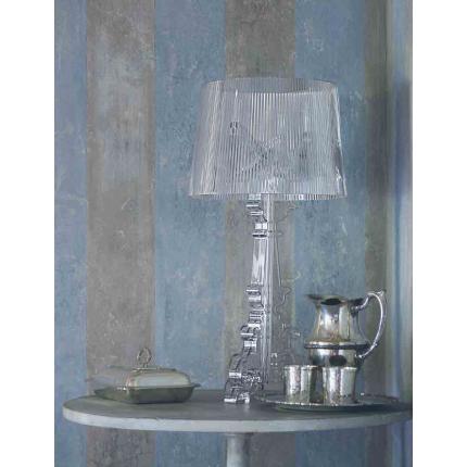 Veioza Kartell Bourgie design Ferruccio Laviani, E14 max 3x28W, d37cm, negru