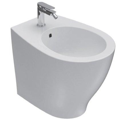 Bideu pe pardoseala Globo Bowl+ 38x55cm back-to-wall