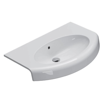 Lavoar curbat Globo Bowl+ 80x50cm