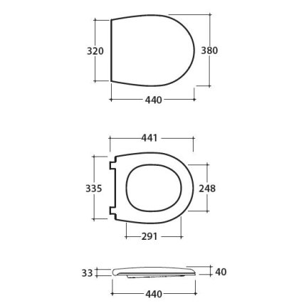 Capac WC Globo Bowl+ 50cm cu inchidere lenta