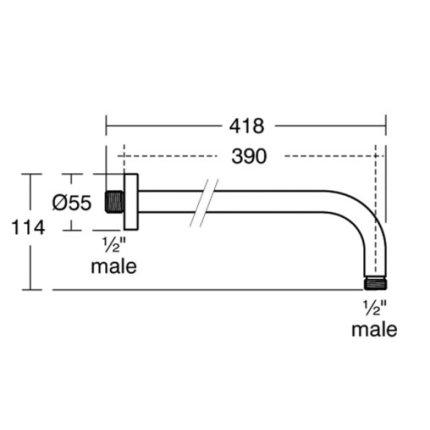 Brat de dus Ideal Standard Ideal Rain 40cm, crom