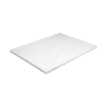 Cadita dus dreptunghiulara Besco Nox ultraslim 120x80x3,5 cm compozit alb