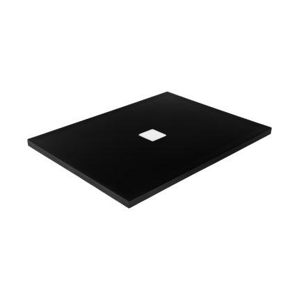Cadita dus dreptunghiulara Besco Nox ultraslim 120x80x3,5 cm compozit negru