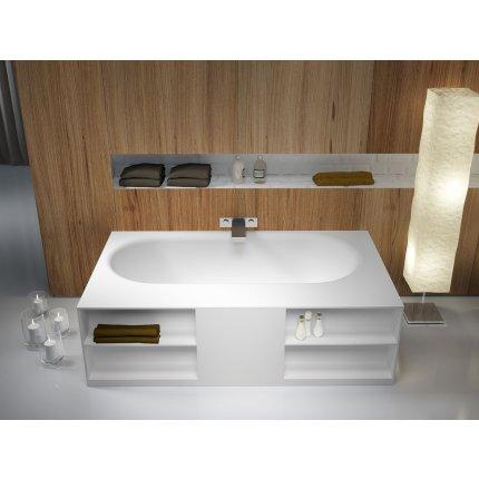 Cada free-standing Riho Burgos 180x85cm alb mat