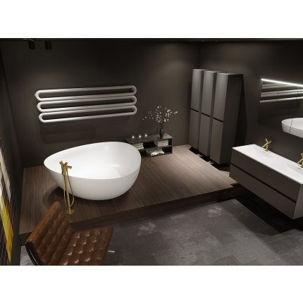 Cada free-standing Riho Oviedo 160x160cm, compozit, alb mat